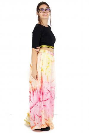 Pantaloni tip petala Tie-Dye - Multicolori [3]