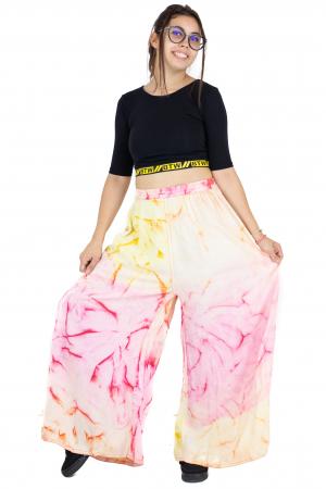 Pantaloni tip petala Tie-Dye - Multicolori [2]