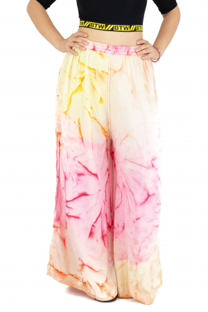 Pantaloni tip petala Tie-Dye - Multicolori [0]