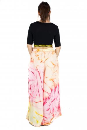 Pantaloni tip petala Tie-Dye - Multicolori [6]