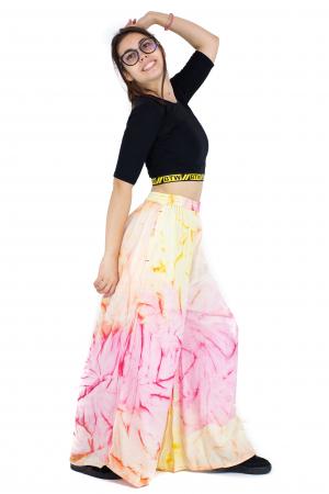 Pantaloni tip petala Tie-Dye - Multicolori [5]