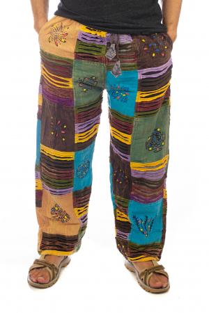 Pantaloni tip razor cut cu pacth - Model 70
