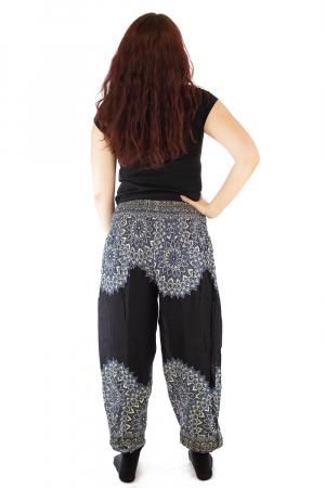 Pantaloni tip salvar femei mandala negru - Jazmin3