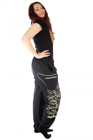 Pantaloni tip salvar pentru femei cu print4