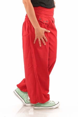 Pantaloni tip salvari - Rosu2