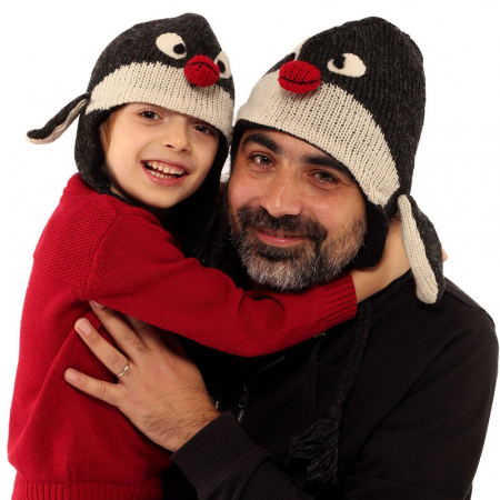 Căciula din lână copii - PINGUIN2
