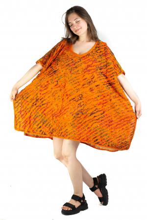 Poncho de plaja - razor cut - portocaliu -  RFG941 [3]