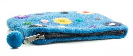 Portofel albastru - Buline [2]