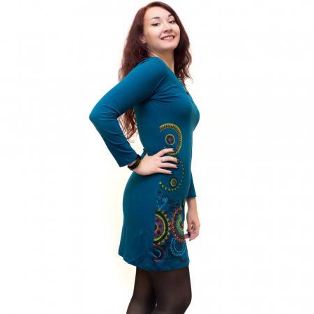 Rochie albastra mandala HI29001