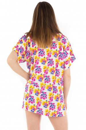 Poncho din Rayon - Painted Flowers [3]
