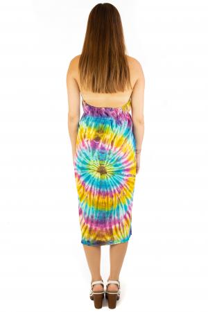 Rochie de vara Tie Dye - Rainbow3