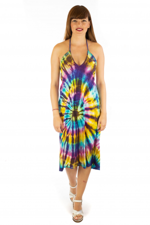 Rochie de vara Tie Dye - Rainbow0