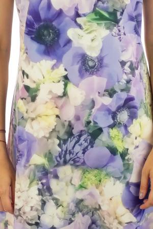 Rochie cu print digital floral - Zambile1