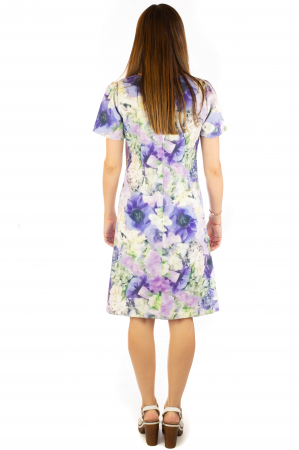 Rochie cu print digital floral - Zambile5