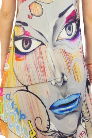 Rochie cu print digital - Graffiti [6]