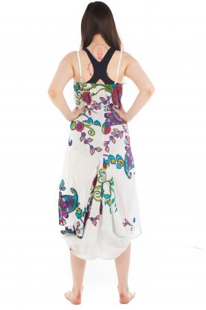 Rochie de plaja lejera - Alba - Floral Hippie HI1494A1