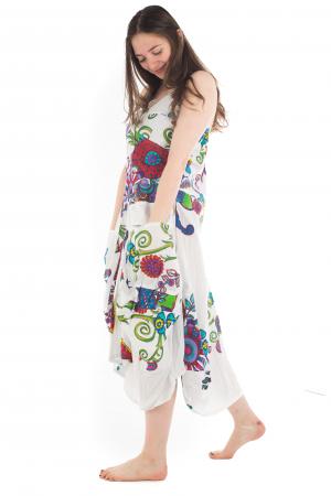Rochie de plaja lejera - Alba - Floral Hippie HI1494A3