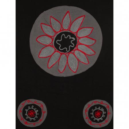 Rochie din bumbac cu patch-uri in forma de cerc2