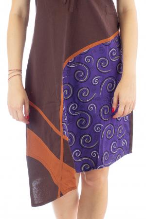 Rochie din bumbac maro - Spirala2