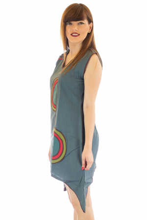 Rochie medie din bumbac - Abstract - marime L3