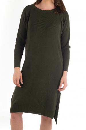 Rochie din bumbac - Verde Inchis [0]