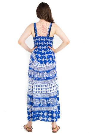 Rochie lunga din bumbac multicolora - Motive hinduse 5 [5]