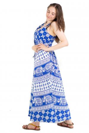 Rochie lunga din bumbac multicolora - Motive hinduse 5 [2]