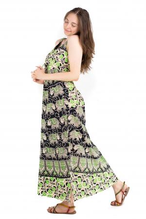 Rochie lunga din bumbac multicolora - Motive hinduse 8 [2]