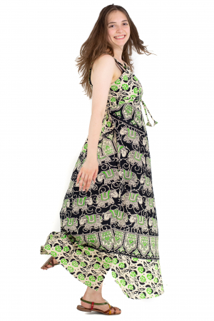Rochie lunga din bumbac multicolora - Motive hinduse 8 [5]