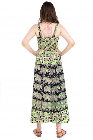 Rochie lunga din bumbac multicolora - Motive hinduse 8 [6]