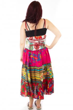 Rochie multicolora de plaja - Flower Mix - Roz HI28292