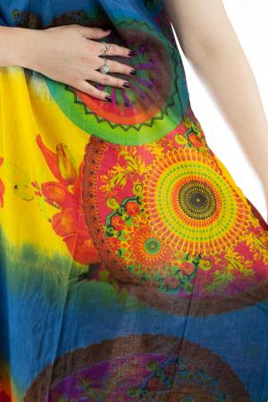 Rochie multicolora de plaja - Blue Mix [3]