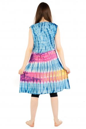Rochie Tie-Dye din rayon - Albastra [6]