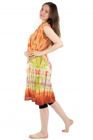 Rochie Tie-Dye din rayon - Portocalie [3]