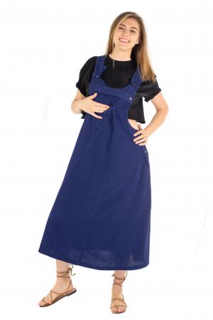 Rochie sarafan dama lunga - Albastru Inchis [1]