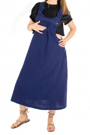 Rochie sarafan dama lunga - Albastru Inchis [0]