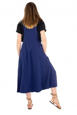 Rochie sarafan dama lunga - Albastru Inchis [3]