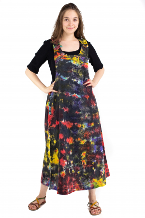 Rochie tip sarafan Tie Dye - Multicolora [1]