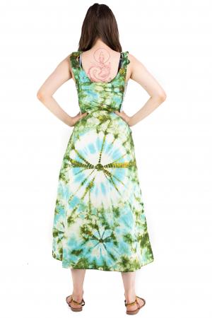 Rochie tip sarafan Tie Dye - Verde [6]