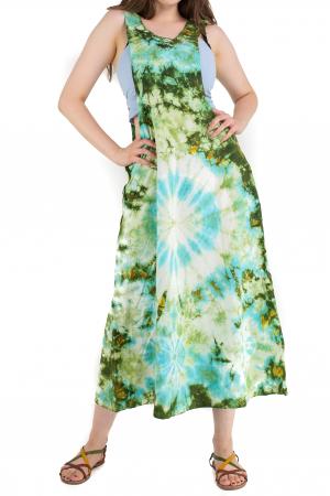 Rochie tip sarafan Tie Dye - Verde [0]