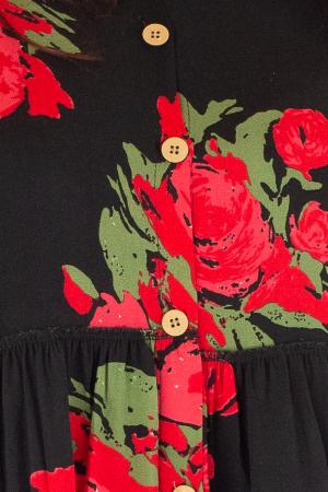 Rochie lunga cu print floral si nasturi1
