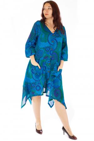 Rochie vaporoasa de vara albastra0