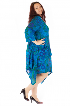 Rochie vaporoasa de vara albastra2