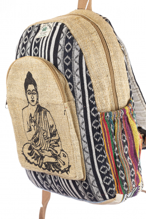 Rucsac din canepa si bumbac - Buddha 1 [1]