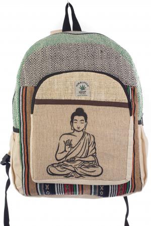Rucsac din canepa si bumbac - Buddha 6 Negru0