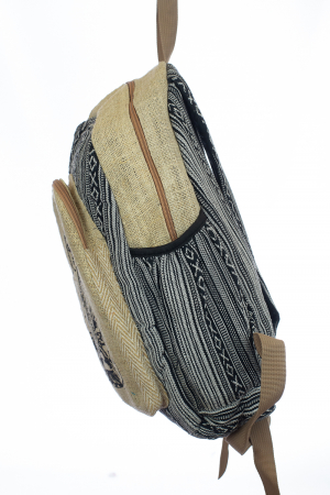 Rucsac din canepa si bumbac - Budha Stripes [2]