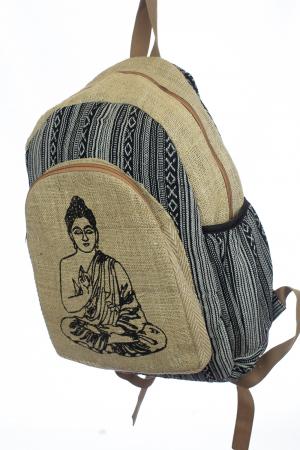 Rucsac din canepa si bumbac - Budha Stripes [1]