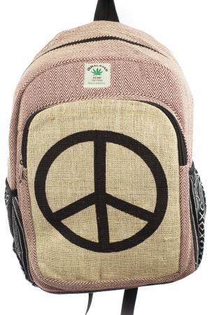 Rucsac din canepa si bumbac - Hippie Symbol