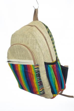 Rucsac din canepa si bumbac - Rainbow Pocket1