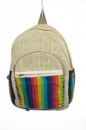 Rucsac din canepa si bumbac - Rainbow Pocket0